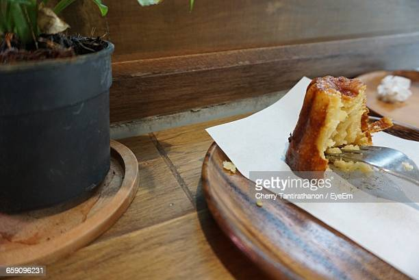 High Angle View Of Canele In Plate