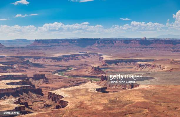 high angle view of canyonlands national park - canyonlands national park stock pictures, royalty-free photos & images
