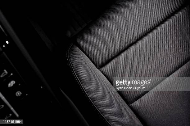 high angle view of car seat - 席 ストックフォトと画像