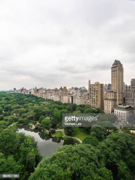 High Angle View of Central Park - New York