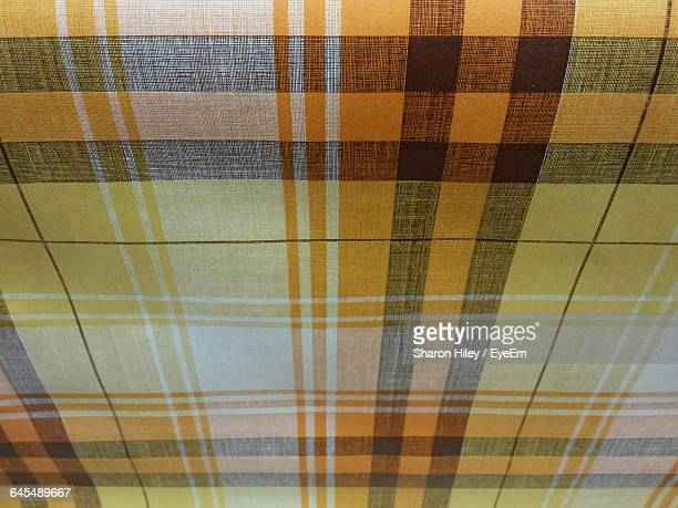 High Angle View Of Checked Pattern Textile