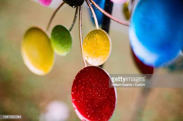 High Angle View Of Christmas Decoration At Home