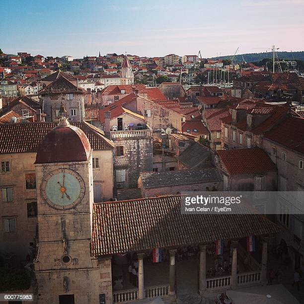 High Angle View Of Church And Buildings At Trogir