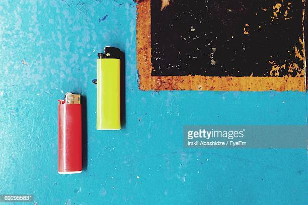 High Angle View Of Cigarette Lighter