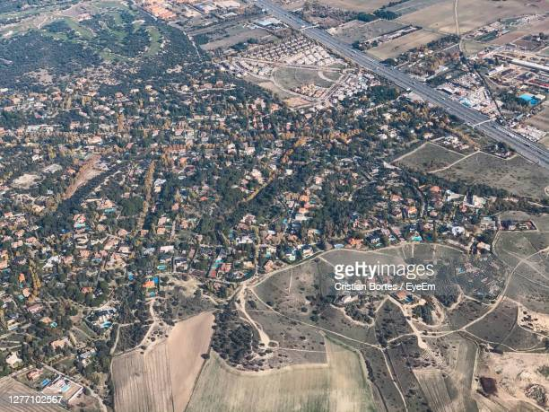 high angle view of city buildings - bortes stock pictures, royalty-free photos & images