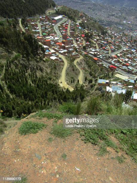 high angle view of city - linda fraikin stock pictures, royalty-free photos & images