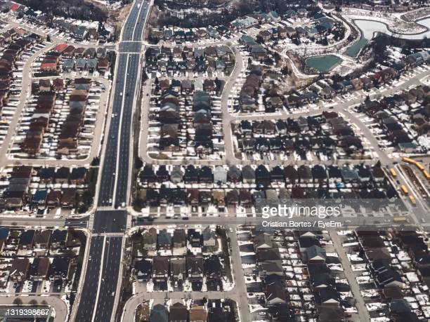 high angle view of city - bortes stock pictures, royalty-free photos & images