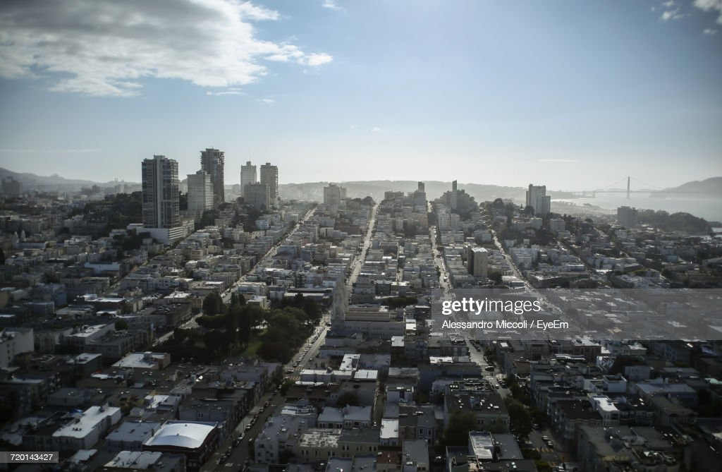 High Angle View Of City : Stock-Foto