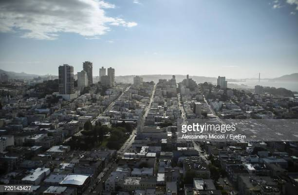 high angle view of city - alessandro miccoli stockfoto's en -beelden