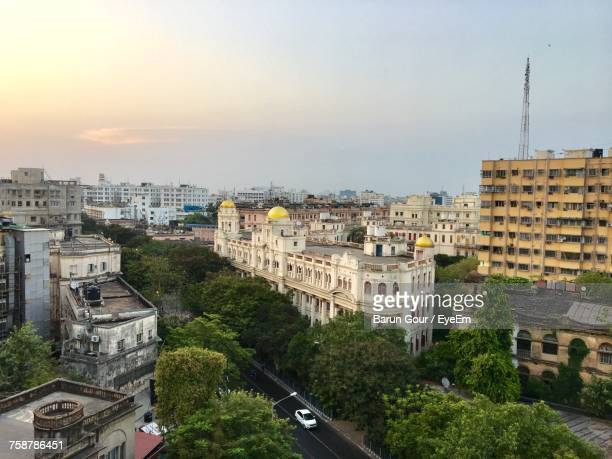 high angle view of city - kolkata stock pictures, royalty-free photos & images