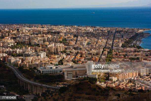 high angle view of city - reggio calabria stock pictures, royalty-free photos & images