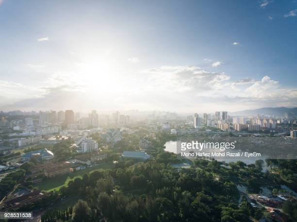 high angle view of city - kuala lumpur stock pictures, royalty-free photos & images