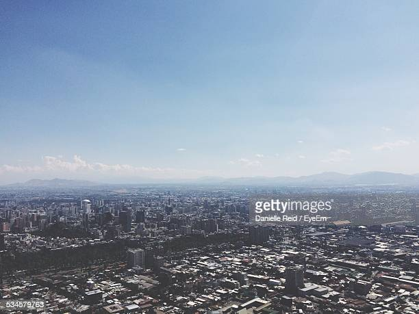 high angle view of cityscape against sky - danielle reid stock pictures, royalty-free photos & images