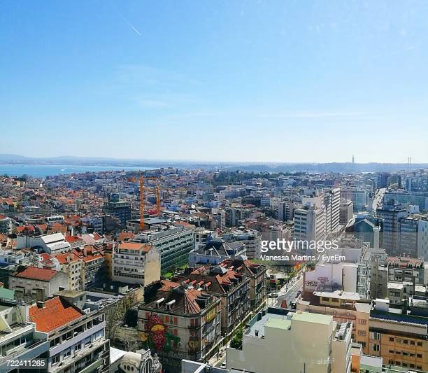 high angle view of cityscape against sky - vanessa martins stock pictures, royalty-free photos & images