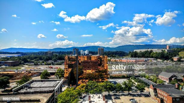 high angle view of cityscape against sky - chattanooga stock pictures, royalty-free photos & images