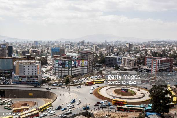 high angle view of cityscape in city - east africa stock pictures, royalty-free photos & images