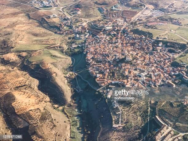 high angle view of cityscape - bortes imagens e fotografias de stock