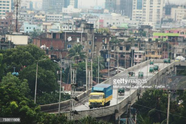 high angle view of cityscape - ziaur rahman stock pictures, royalty-free photos & images