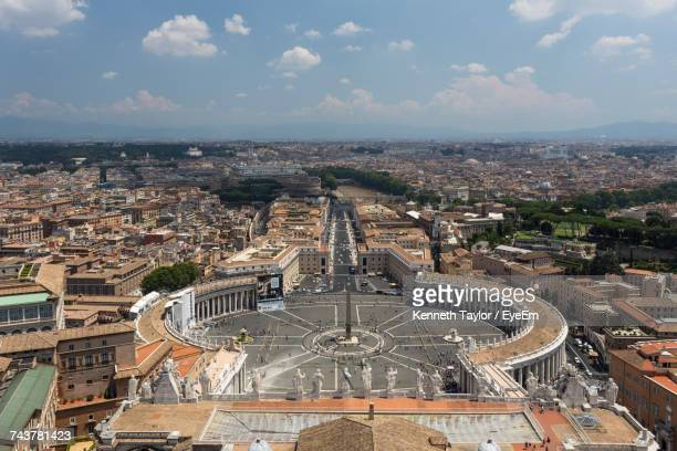 high angle view of cityscape - state of the vatican city stock pictures, royalty-free photos & images