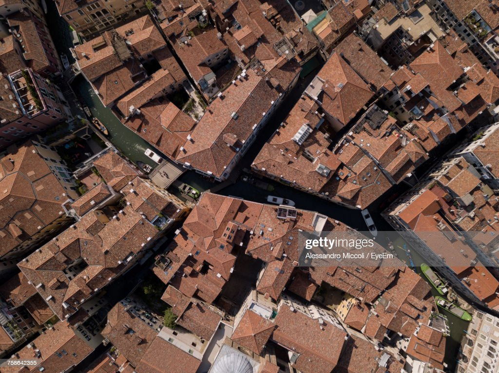 High Angle View Of Cityscape : Stock Photo
