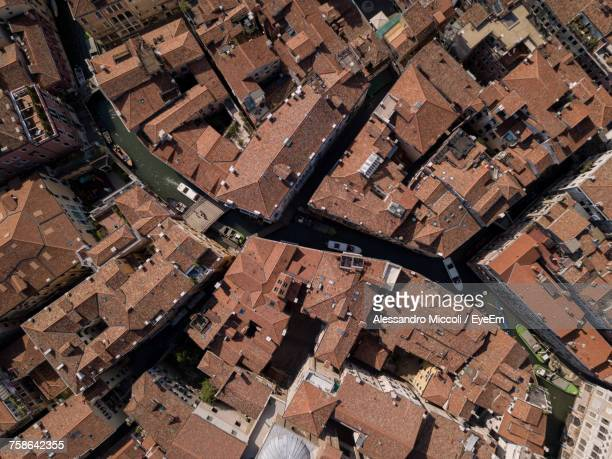 high angle view of cityscape - alessandro miccoli stock photos and pictures
