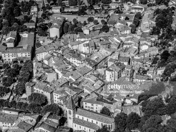 high angle view of cityscape - alpes de haute provence stock pictures, royalty-free photos & images