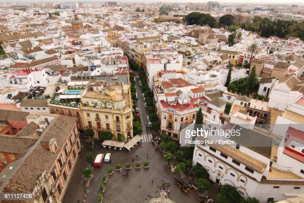 high angle view of cityscape - montevideo stock pictures, royalty-free photos & images