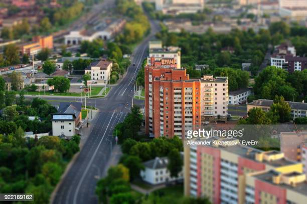 high angle view of cityscape - minsk stock pictures, royalty-free photos & images