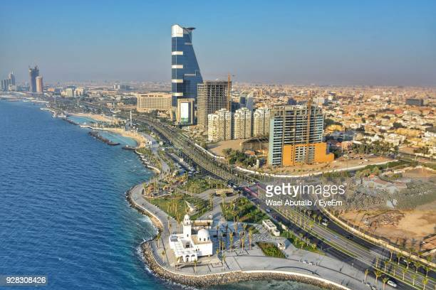 high angle view of cityscape - jiddah stock pictures, royalty-free photos & images
