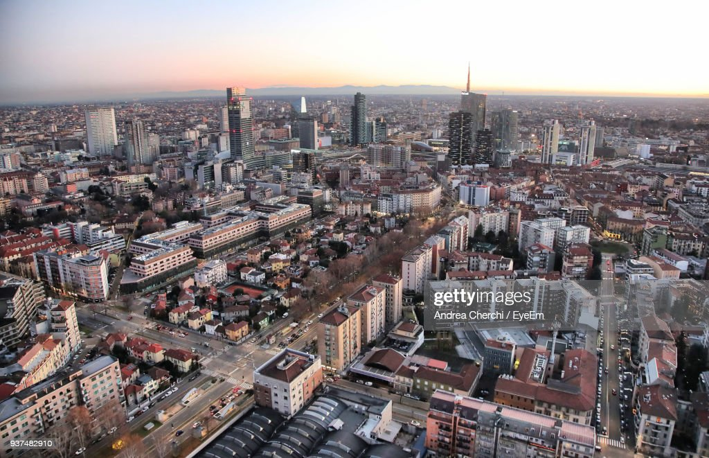 High Angle View Of Cityscape : Stock-Foto