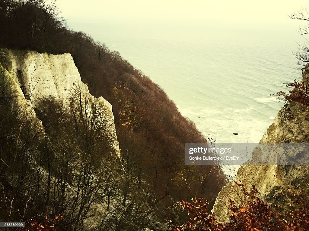 High Angle View Of Cliffs : Foto stock