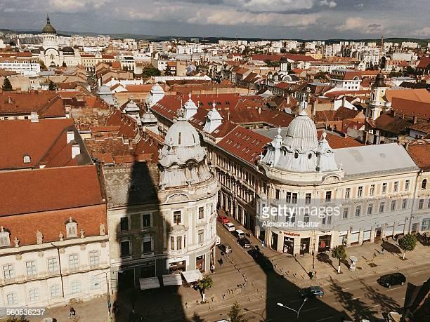 High angle view of Cluj-Napoca, Romania