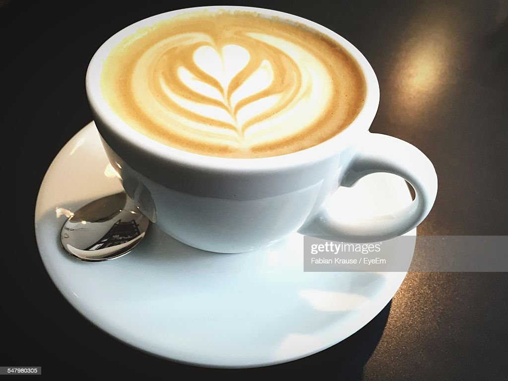 High Angle View Of Coffee On Table : Stock-Foto
