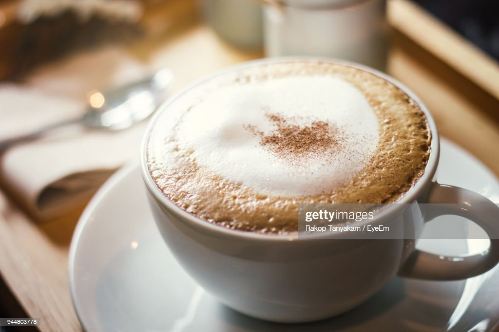 High Angle View Of Coffee On Table : Stock Photo
