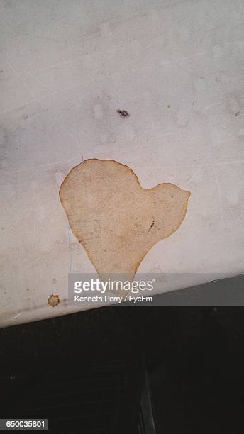 High Angle View Of Coffee Stain On White Table
