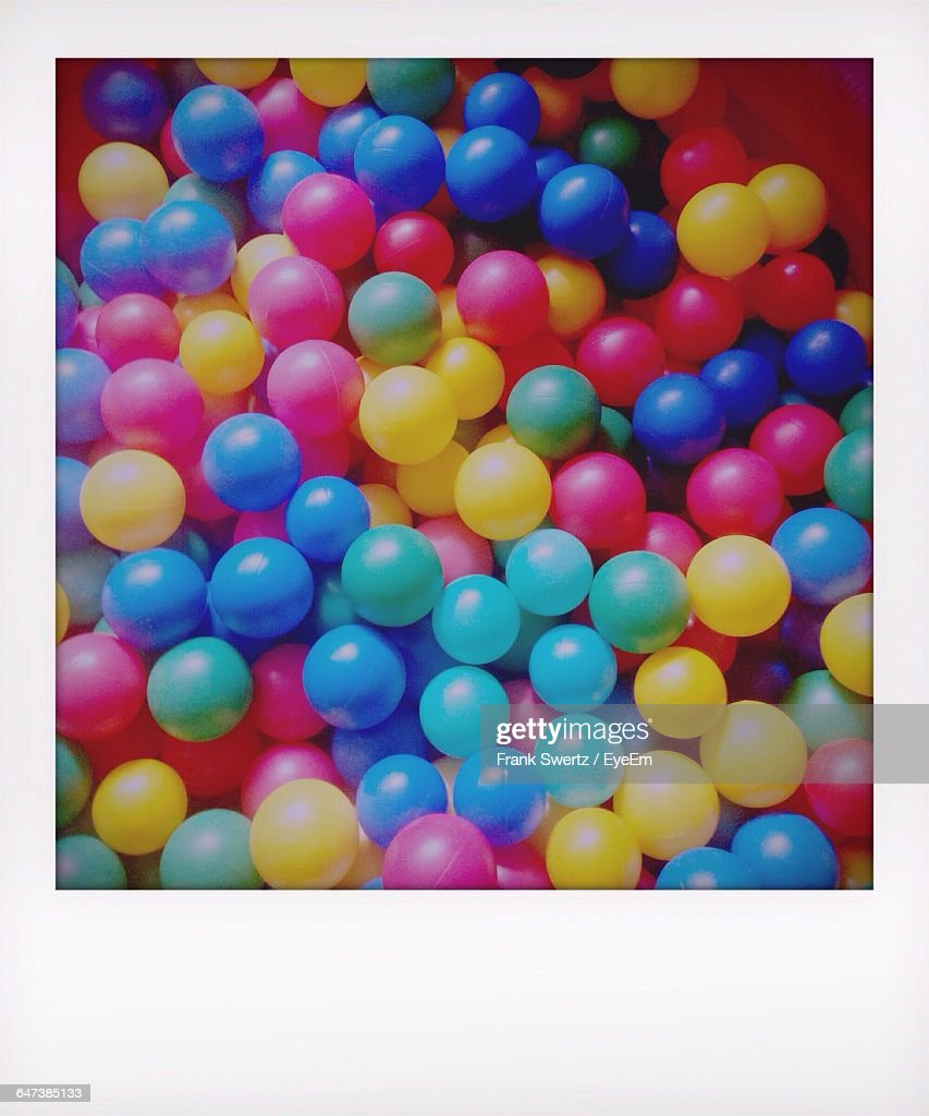 High Angle View Of Colorful Balls : Stock-Foto