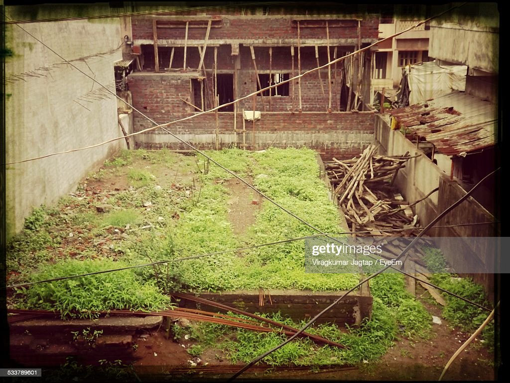 High Angle View Of Construction Site : Foto stock