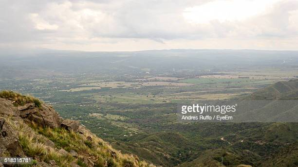 high angle view of countryside landscape - andres ruffo stock pictures, royalty-free photos & images