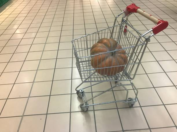 High Angle View Of Crab In Basket On Floor