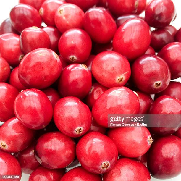 High Angle View Of Cranberries