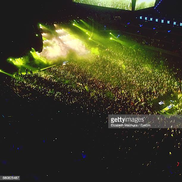 High Angle View Of Crowd At Music Festival