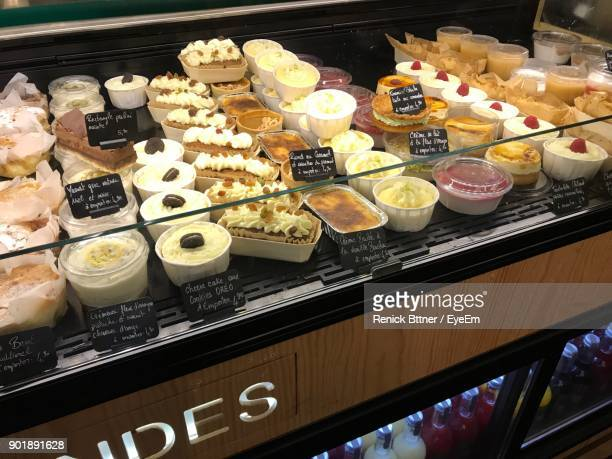High Angle View Of Cupcakes In Shop For Sale