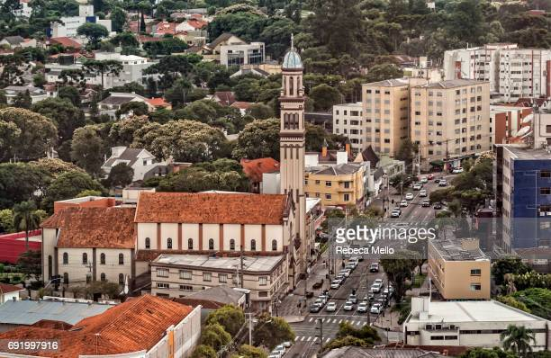 high angle view of  curitiba, brazil - curitiba stock pictures, royalty-free photos & images