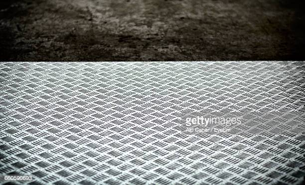 High Angle View Of Diamond Plate