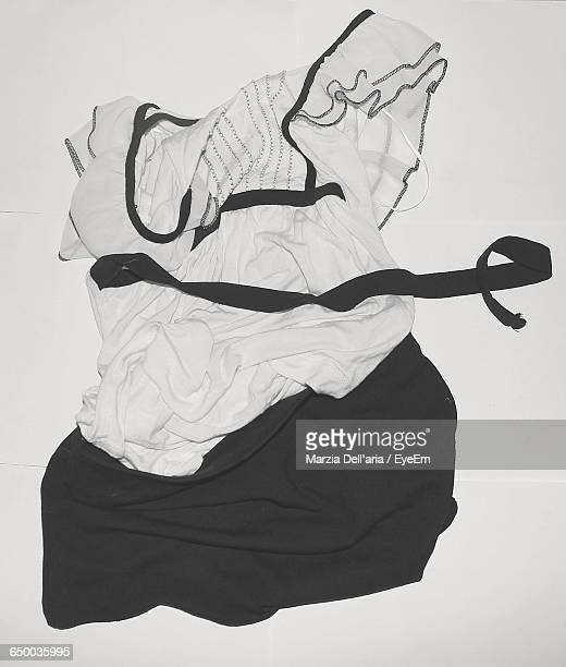 High Angle View Of Dress On White Background