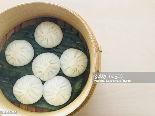 High Angle View Of Dumplings In Container