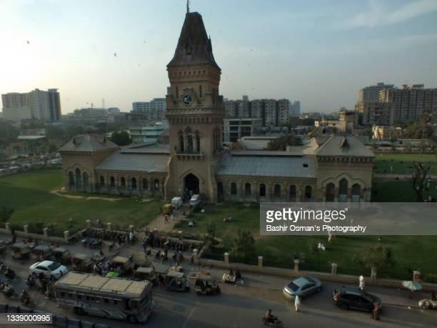 a high angle view of empress market, karachi - スィンド州 ストックフォトと画像