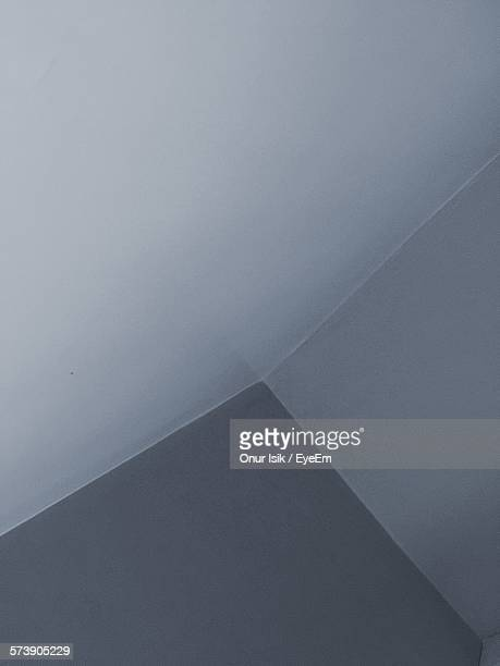 High Angle View Of Empty Corner With White Walls