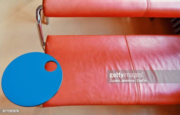 high angle view of empty red seat - zuzana janekova stock pictures, royalty-free photos & images