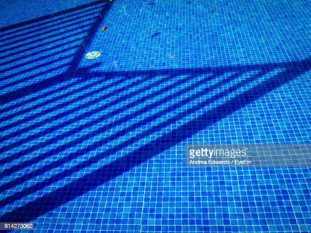 High Angle View Of Empty Swimming Pool